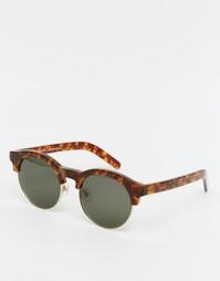 Круглые солнцезащитные очки в черепаховой оправе Han Kjobenhavn Smith