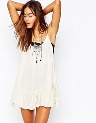Платье с присборенной юбкой One Teaspoon Le Pure - Кремовый
