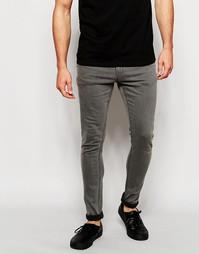 Серые выбеленные джинсы скинни Only & Sons - Серый