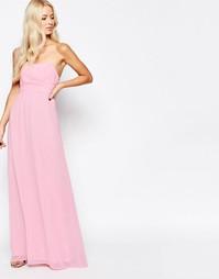 Шифоновое платье макси для выпускного Traffic People Candy - Розовый