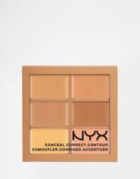 Палитра теней NYX 3c - Conceal Correct Contour - Средний