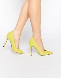 Туфли на высоком каблуке с острым носом ASOS PARADOX - Желтый
