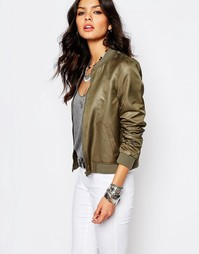 Блестящая куртка-пилот Noisy May - Хаки