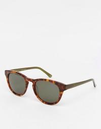 Солнцезащитные очки в круглой черепаховой оправе Han Kjobenhavn Timele