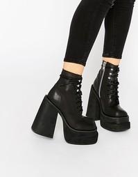 Черные ботинки на шнуровке UNIF Bratz - Черный