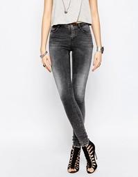 Черные джинсы суперслим с выбеленным эффектом Noisy May Lucy - Dgd 34