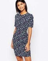 Платье-тюльпан с цветочным принтом Poppy Lux Vayda - Темно-синий