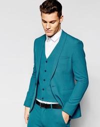 Бирюзовый пиджак суперзауженного кроя ASOS - Бирюзовый
