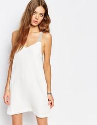 Кремовое платье‑сарафан на бретельках Suncoo - Кремовый