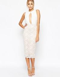 Платье миди с вырезом капелькой и кружевной юбкой Hedonia Caprice
