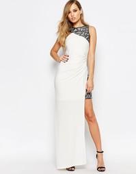 Асимметричное платье макси с пайетками Ariana Grande for Lipsy