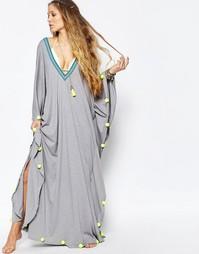 Пляжное платье с помпонами Pitusa - Серый
