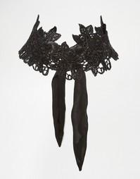 Кружевное ожерелье-чокер Love Rocks - Черный