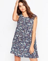 Платье с ассиметричным подолом и тропическим принтом Glamorous