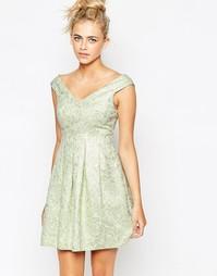 Жаккардовое платье Lashes Of London - Мятный