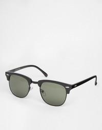 Солнцезащитные очки в стиле ретро Selected Homme - Черный