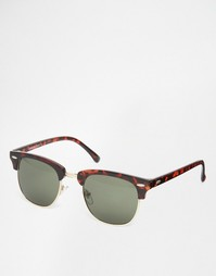 Солнцезащитные очки в стиле ретро Selected Homme - Коричневый