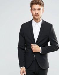 Суперзауженный стретчевый пиджак Selected Homme - Черный