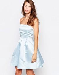 Платье-бандо для выпускного Glamorous - Нежно-голубой
