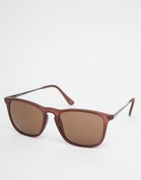 Квадратные солнцезащитные очки Selected Homme - Коричневый