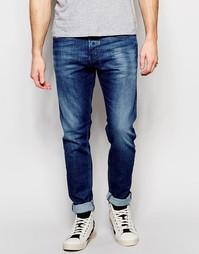Эластичные синие джинсы скинни Diesel Tepphar 836X - Умеренный синий
