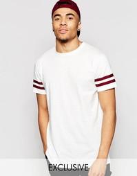 Светло-бежевая футболка с двумя полосками Brooklyn Supply Co