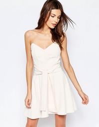 Платье мини без бретелек Keepsake Get Free - Розовый