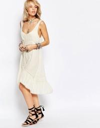 Платье-сорочка Free People Parisian - Слоновая кость