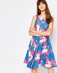 Платье с цветочным принтом Traffic People Sass And Sunshine Twirl