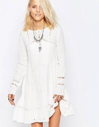 Платье-трапеция Religion Ultimate - Зимний белый