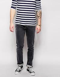 Серые джинсы слим Nudie Jeans Grim Tim - Steamy Grey - Серый