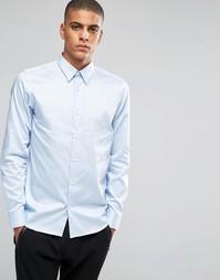 Строгая рубашка слим из египетского хлопка Selected Homme