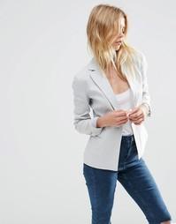 Льняной блейзер ASOS Tailored - Серебряный