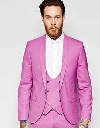Пиджак зауженного кроя с лацканами наклонной формы Noose & Monkey