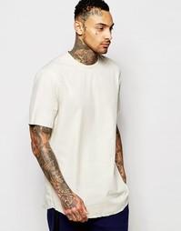Прямая рубашка с необработанным краем ASOS - Кэмел