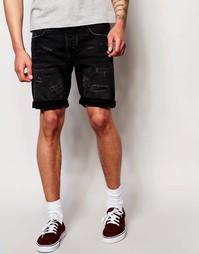 Джинсовые шорты прямого кроя Jack & Jones - Черный