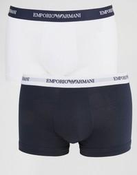 2 хлопковых боксеров‑брифов стретч Emporio Armani
