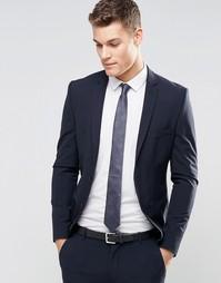 Суперзауженный стретчевый пиджак Selected Homme - Темно-синий