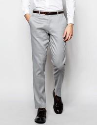 Зауженные льняные брюки ASOS - Серый