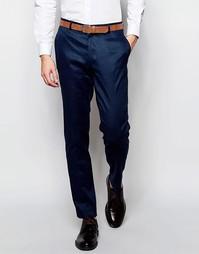 Зауженные льняные брюки ASOS - Темно-синий