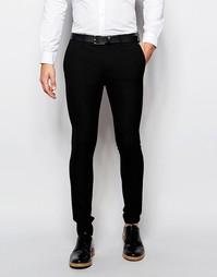 Черные суперзауженные брюки ASOS - Черный