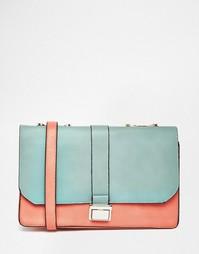 Дамская сумка на плечо с контрастными вставками Liquorish