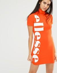 Облегающее платье с высоким воротом Ellesse - Оранжевый