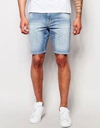Винтажные джинсовые шорты скинни Antony Morato - Светло-голубой