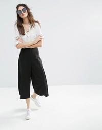 Строгая юбка-брюки с глубокой складкой ASOS - Черный
