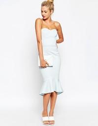 Платье бандо ASOS Pephem - Светло-голубой