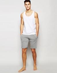 Длинные трикотажные шорты узкого кроя Esprit - Серый