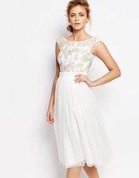 Платье с пайетками Little Mistress - Белый