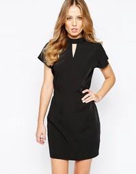 Платье с высокой горловиной Y.A.S Orchid - Черный