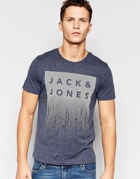 Футболка с фактурным принтом Jack & Jones Jack & Jones